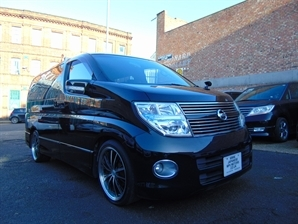 2008 NISSAN ELGRAND Highway Star 3.5 V6 Automatic Red LEATHER SERIES 3